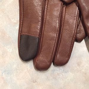 Roots Accessories - Roots brown leather gloves